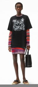 kenzo ´bee a tiger´ oversize t-shirt