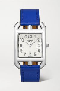 hermès timepieces cape cod 23mm small stainless steel and leather watc