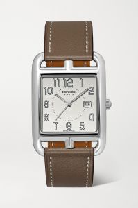 hermès timepieces cape cod 29mm large stainless steel and leather watc