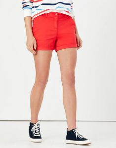 joules cruise - mid length chino shorts - red
