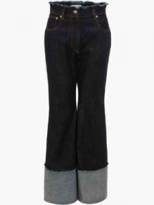 flared raw edge jeans j w anderson