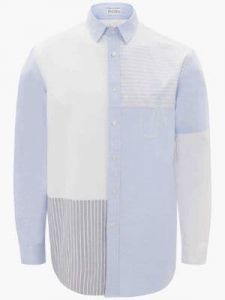 relaxed patchwork shirt j w anderson