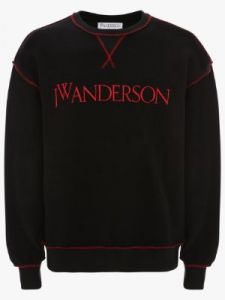inside-out contrast sweatshirt j w anderson