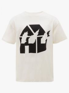burning house t-shirt j w anderson