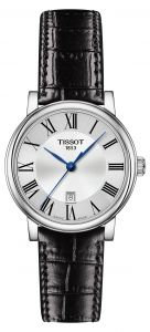 t-classic carson quartz leather strap watch, 30mm tissot