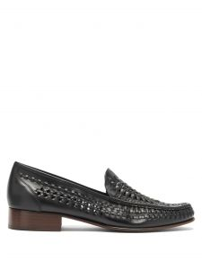saint laurent swann moccasin leather loafers
