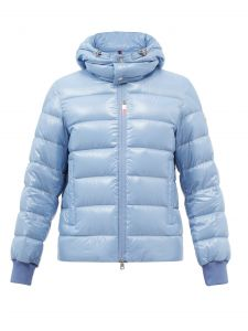 moncler cuvellier hooded quilted down coat