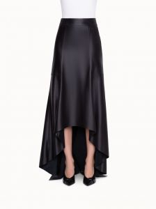 akris a-line long skirt in nappa leather
