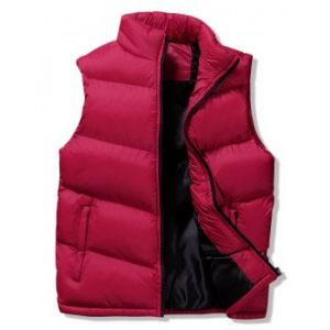 winter solid casual puffer waistcoat