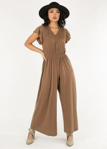 joyfolie *new* starlie jumpsuit in dusty taupe