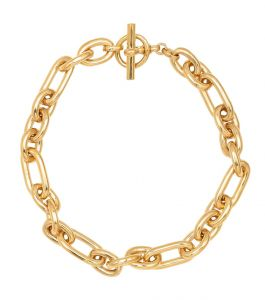 tilly sveaas medium watch 18kt gold-plated chain necklace