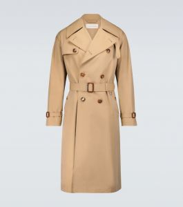 alexander mcqueen double-breasted cotton trench coat