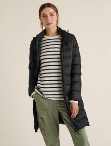 feather & down puffer coat
