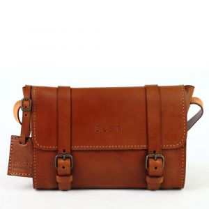 the dust company mod 134 messenger bag in cuoio brown