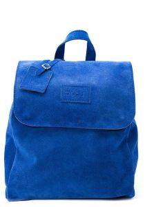 the dust company mod 238 backpack in leather suede blue