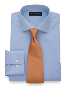 paul fredrick tailored fit non-iron broadcloth solid color cutaway spr