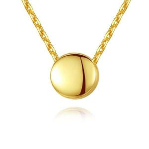 italo round beans yellow gold necklace