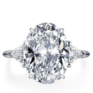 italo three stone oval created white sapphire engagement ring