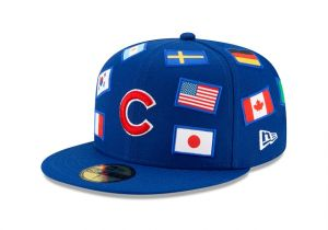 chicago cubs all over flag 59fifty fitted new era