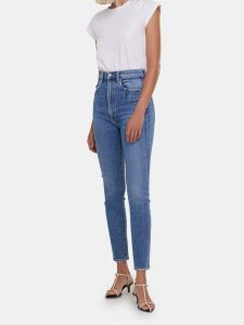 agolde pinch waist high rise ankle cut skinny jeans