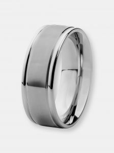 west coast jewelry crucible men´s stainless steel brushed and polished
