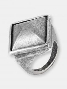 west coast jewelry crucible antiqued faceted pyramid ring